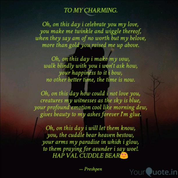 TO MY CHARMING