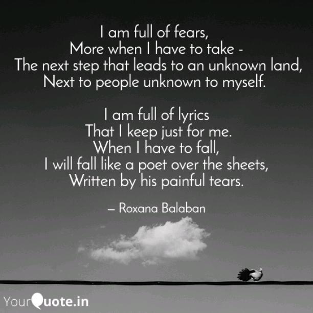 Full of fears