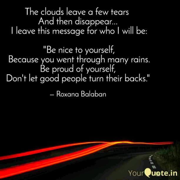 A few tears