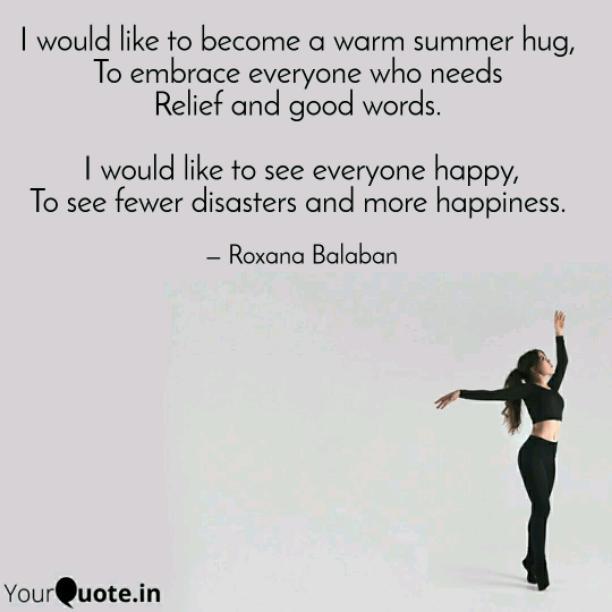 Warm summer hug