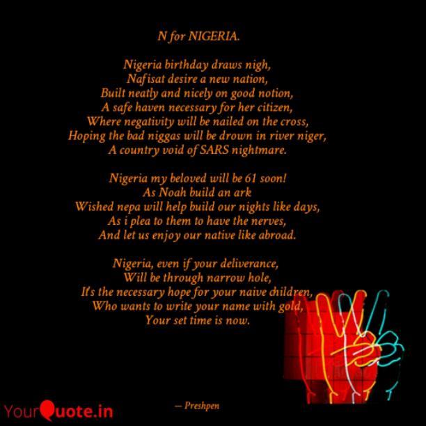 N For NIGERIA