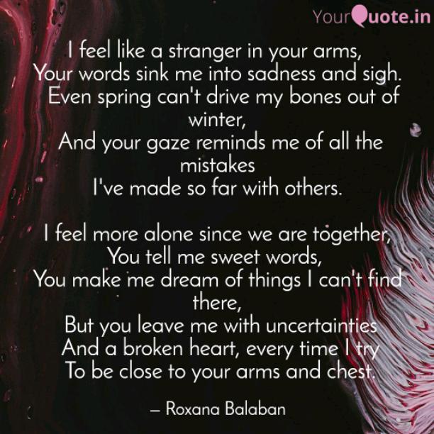 Like a stranger
