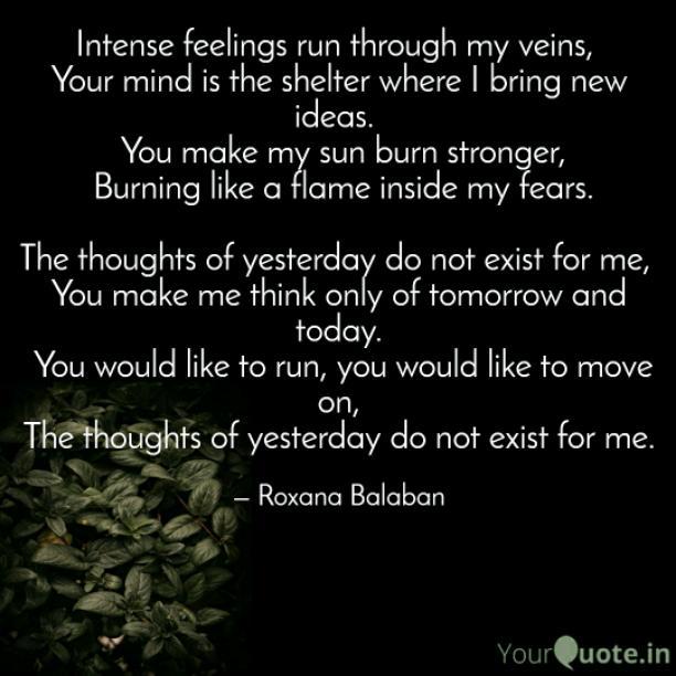Intense feelings