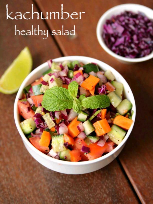 kachumber salad recipe | kuchumber salad recipe | onion cucumber salad | honey'z corner