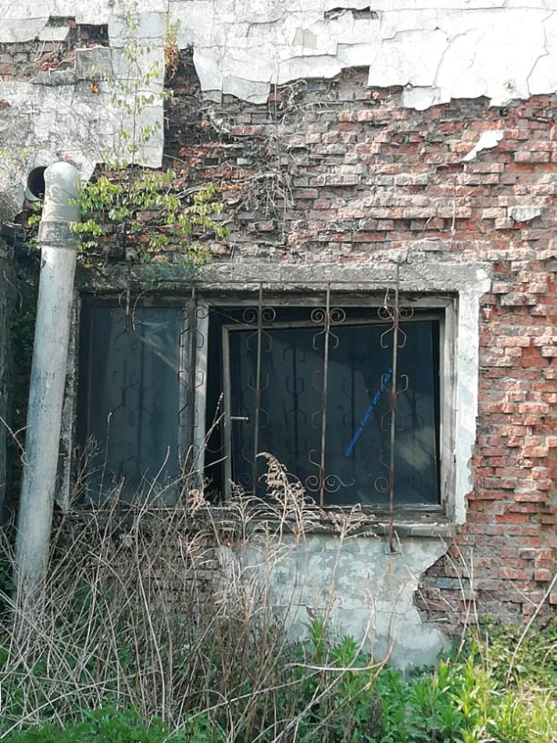 The dilapidated house
