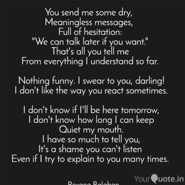 Full of hesitation