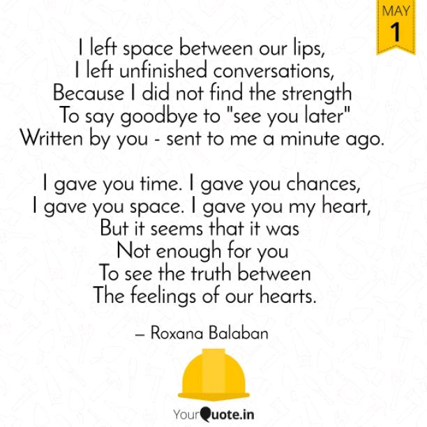 Space between our lips