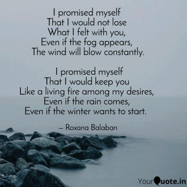 I promised myself