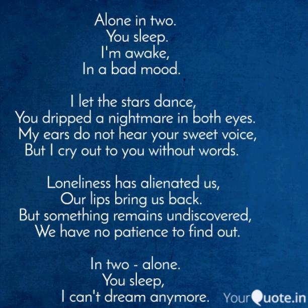 Alone in two