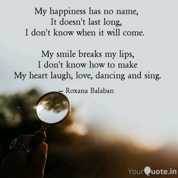 My smiles breaks my lips