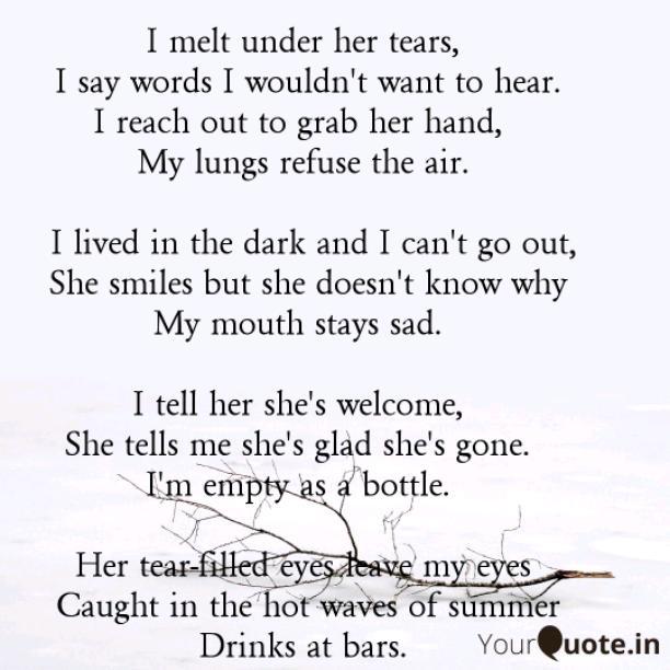 I lived in the dark
