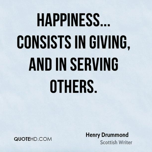 Happiness not given by others