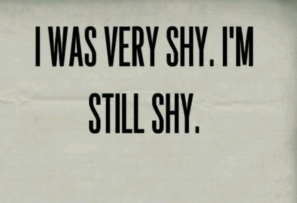 I AM STILL SHY...