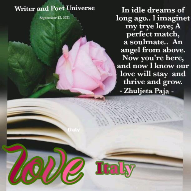 In oziosi sogni di molto tempo fa, ho immaginato il mio vero amore; Una copia perfetta, un'anima gemella, un angelo dall'alto. Ora sei qui