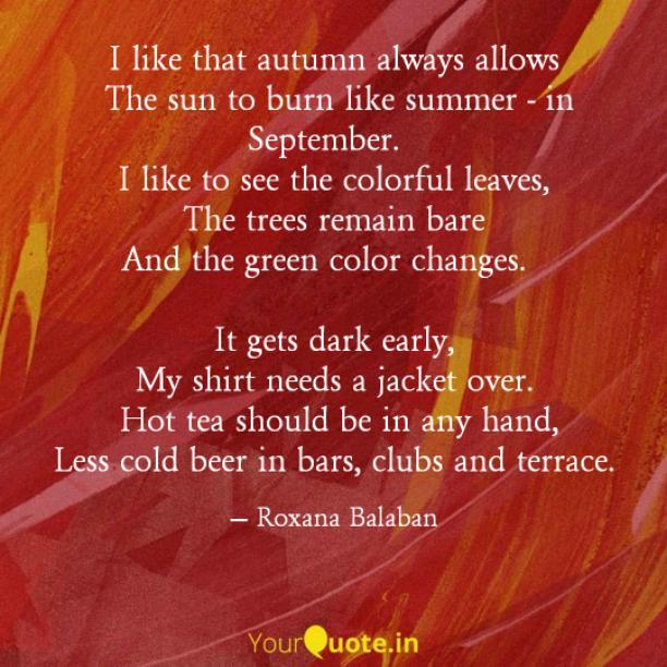 Like summer in September