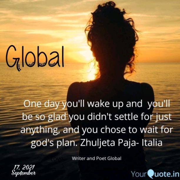 Un giorno ti sveglierai e sarai così felice di non esserti accontentato di qualsiasi cosa e di aver scelto di aspettare il piano di Dio.